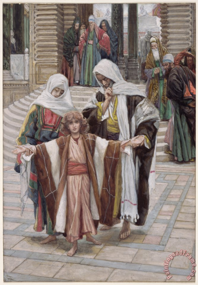 Tissot Jesus Found in the Temple Art Painting