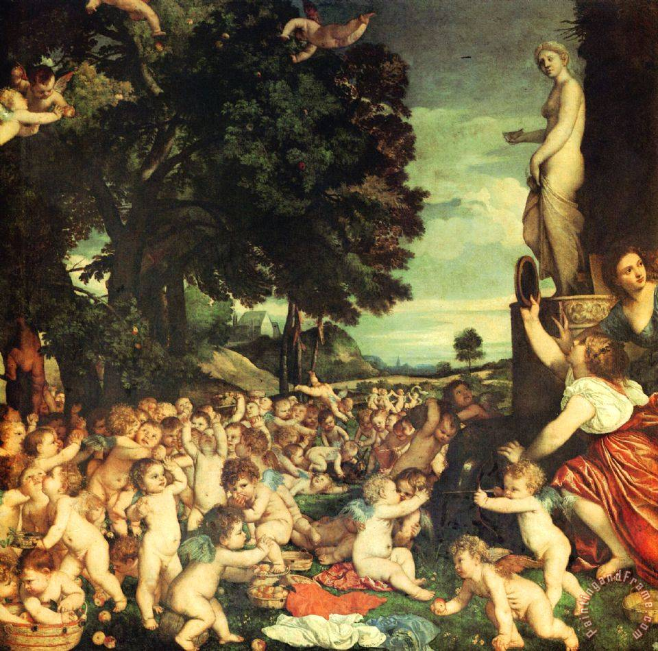 The Worship of Venus painting - Titian The Worship of Venus Art Print