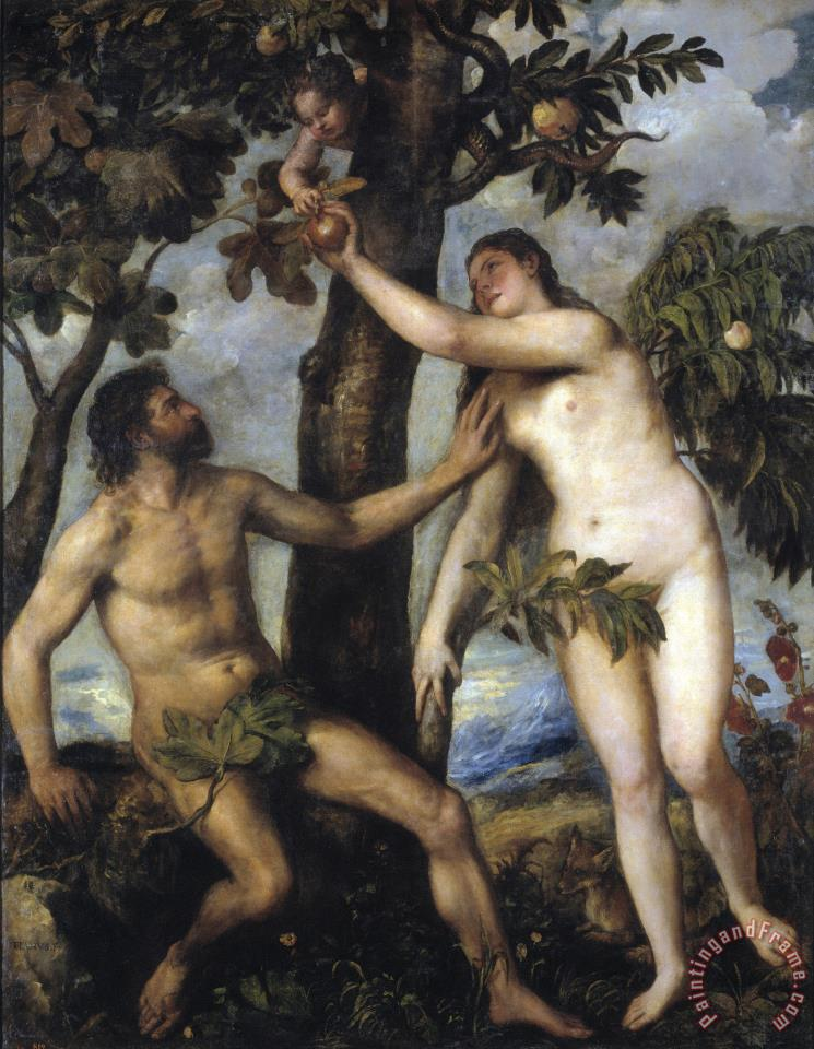 Adam And Eve painting - Titian Adam And Eve Art Print