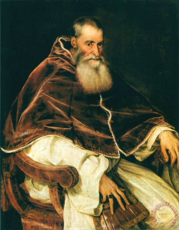 Portrait of Pope Paul III painting - Titian Portrait of Pope Paul III Art Print