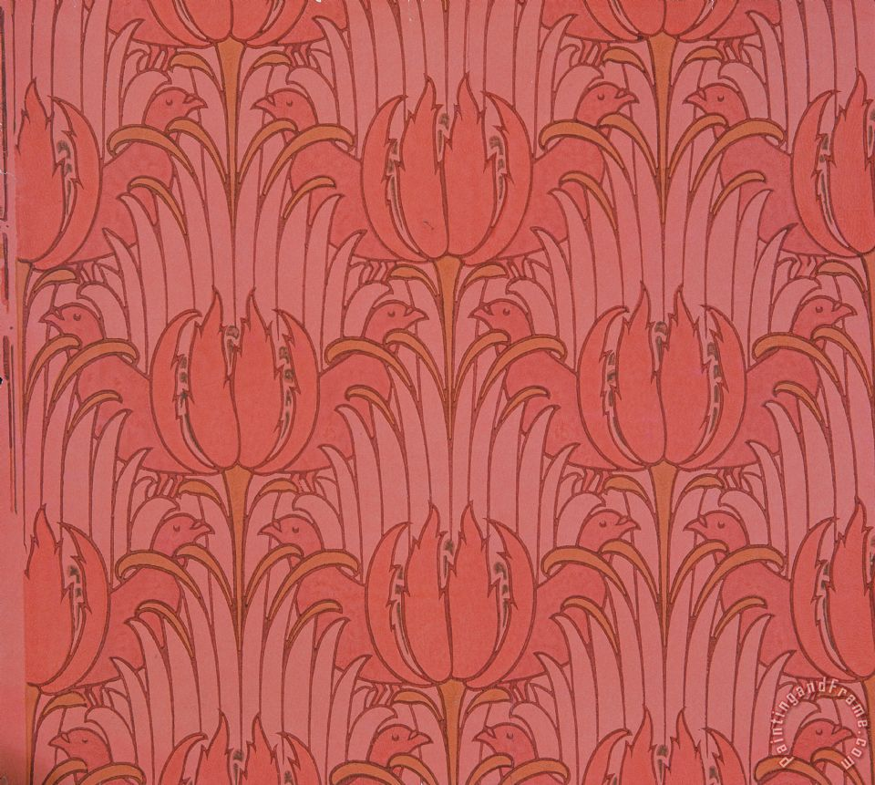 victorian voysey wallpaper design painting wallpaper