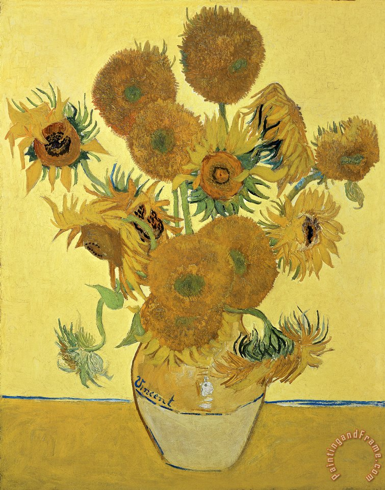 Sunflowers painting - Vincent van Gogh Sunflowers Art Print