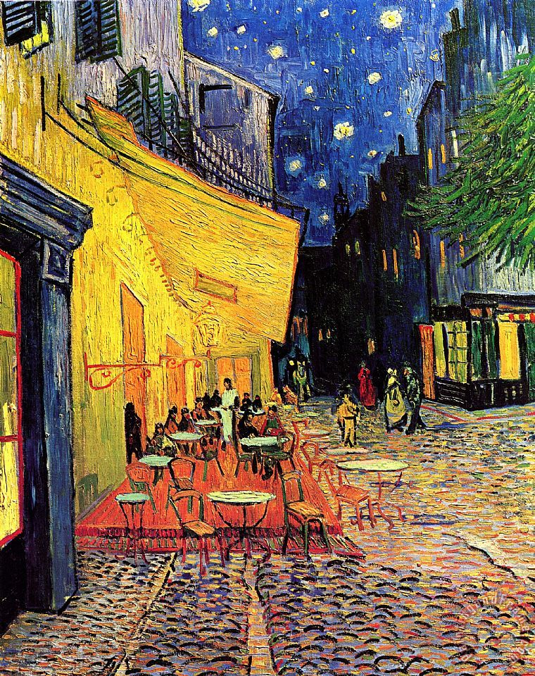 Vincent van Gogh Cafe Terrace Place Du Forum At Night Art Print