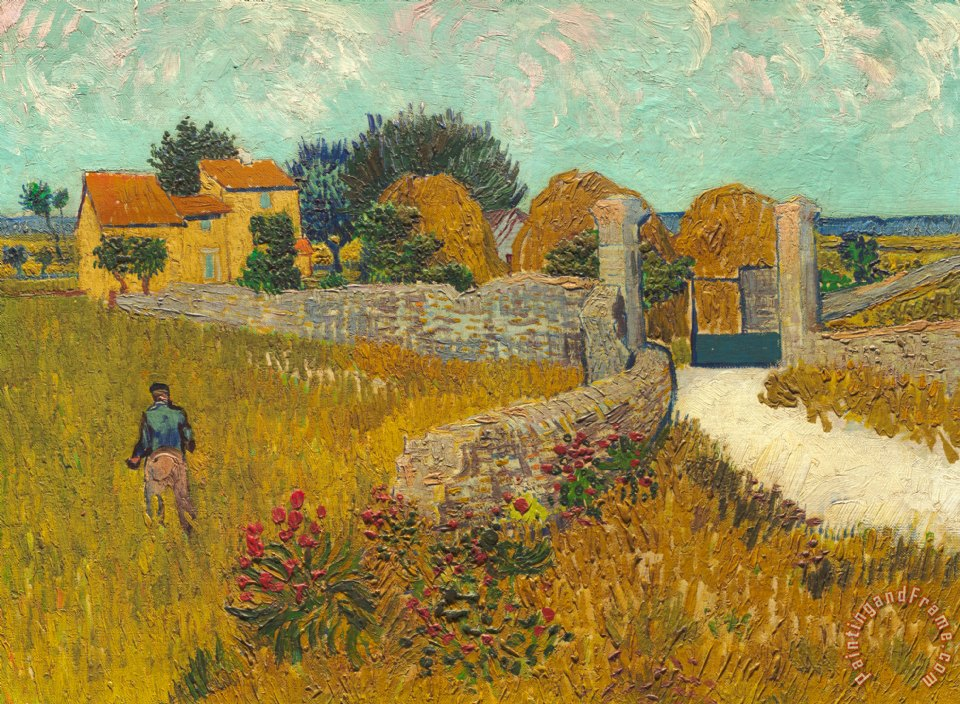 Vincent van Gogh Farmhouse In Provence Art Painting