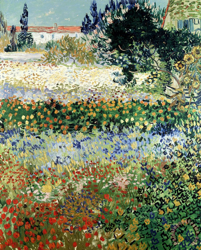 Vincent Van Gogh Garden in Bloom Art Painting