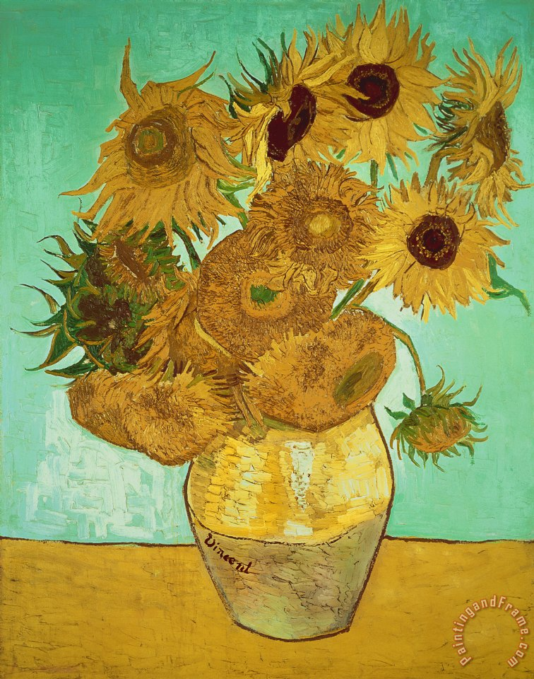 Vincent Van Gogh Sunflowers Art Print