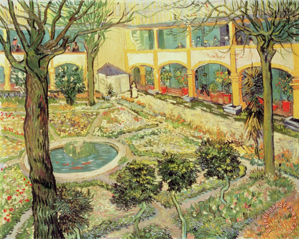 Nice The Asylum Garden At Arles Painting   Vincent Van Gogh The Asylum Garden At  Arles Art