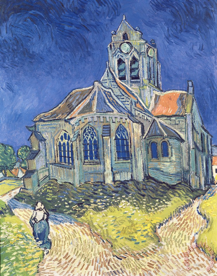Vincent van Gogh The Church at Auvers sur Oise Art Print