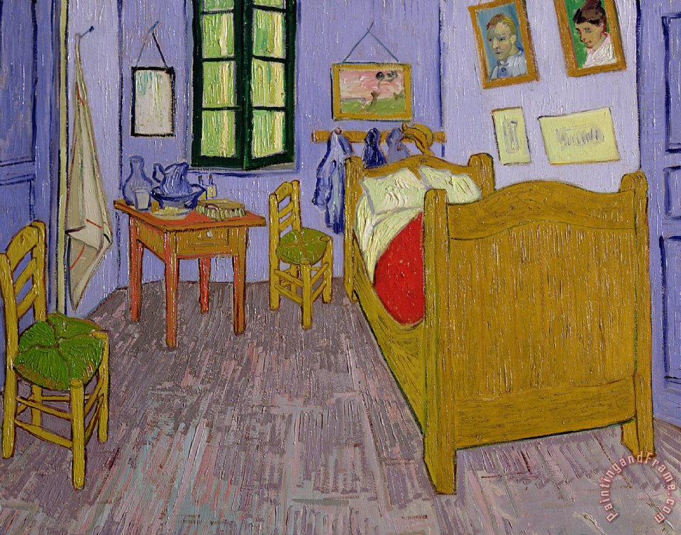 Vincent van Gogh Van Goghs Bedroom at Arles Art Print
