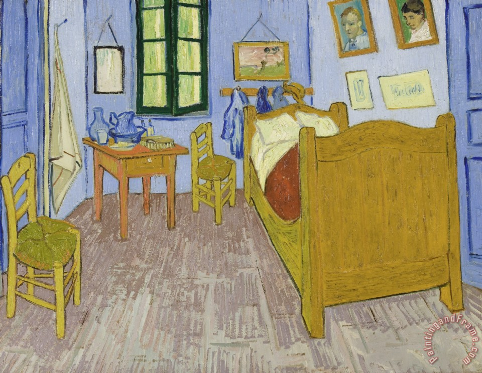 Vincent van Gogh Van Goghs Bedroom In Arles Art Print