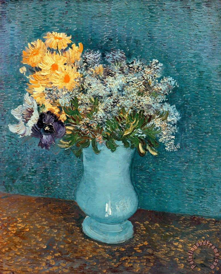 Vincent Van Gogh Vase Of Flowers Painting Vase Of