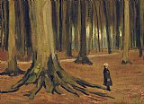 A Girl in a Wood by Vincent van Gogh