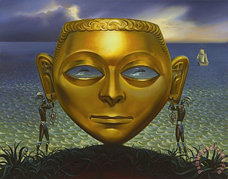 Pendants for The Queen painting - Vladimir Kush Pendants for The Queen Art Print
