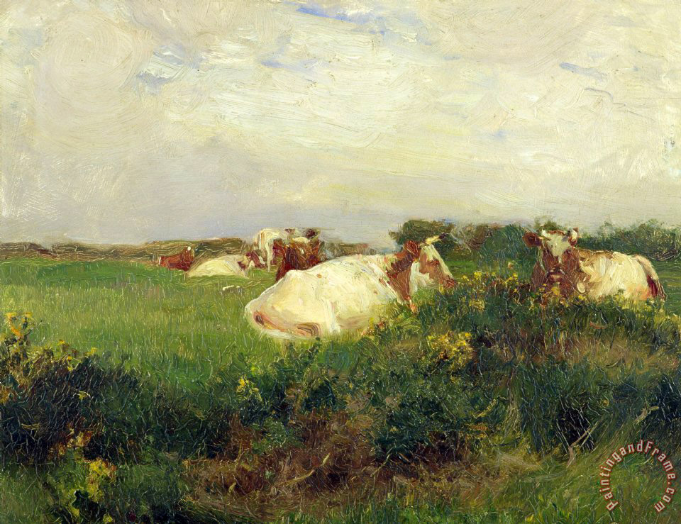 Walter Frederick Osborne Cows in Field Art Painting