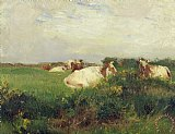 Cows in Field by Walter Frederick Osborne