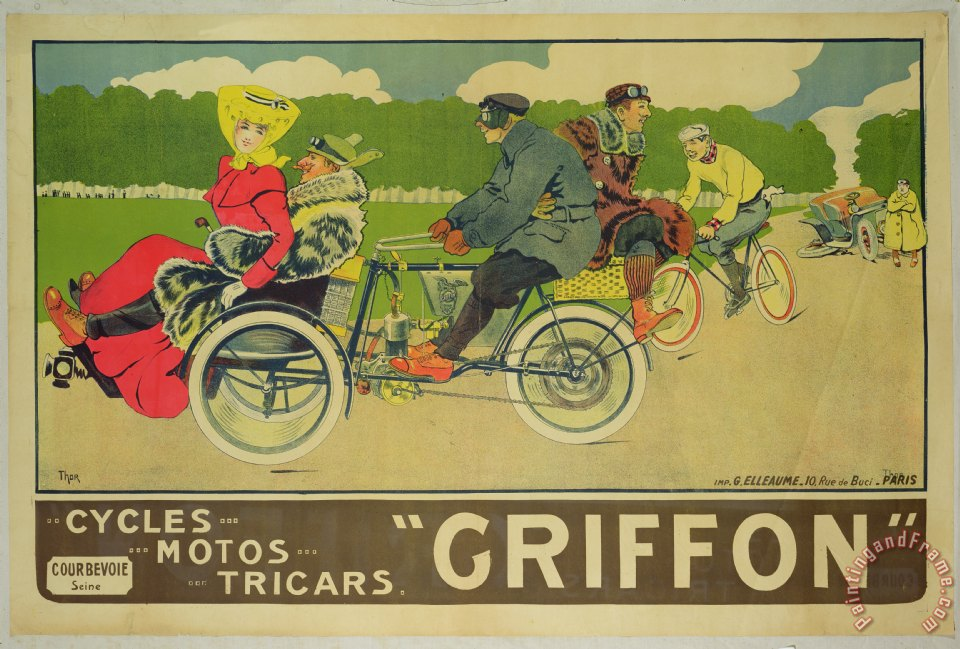 Walter Thor Vintage Poster Bicycle Advertisement Painting