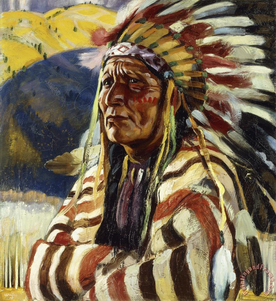 Walter Ufer Chief Thundercloud Art Painting For Sale