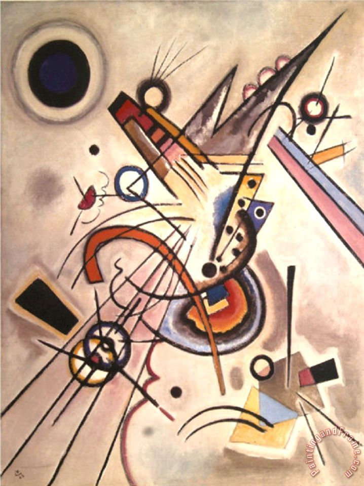Wassily Kandinsky Diagonale Painting Diagonale Print For Sale