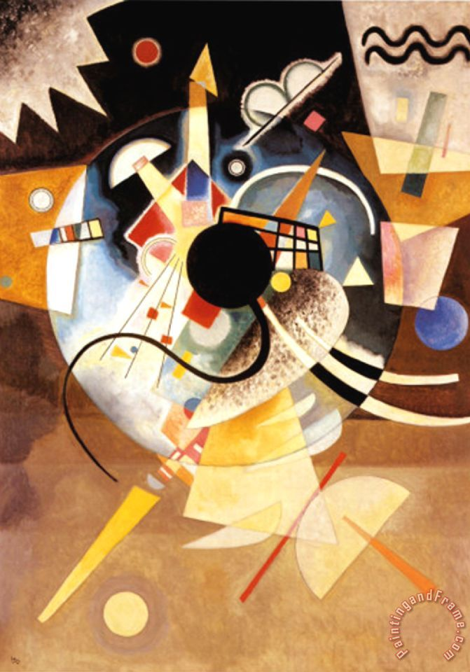 Wassily Kandinsky One Center Painting One Center Print
