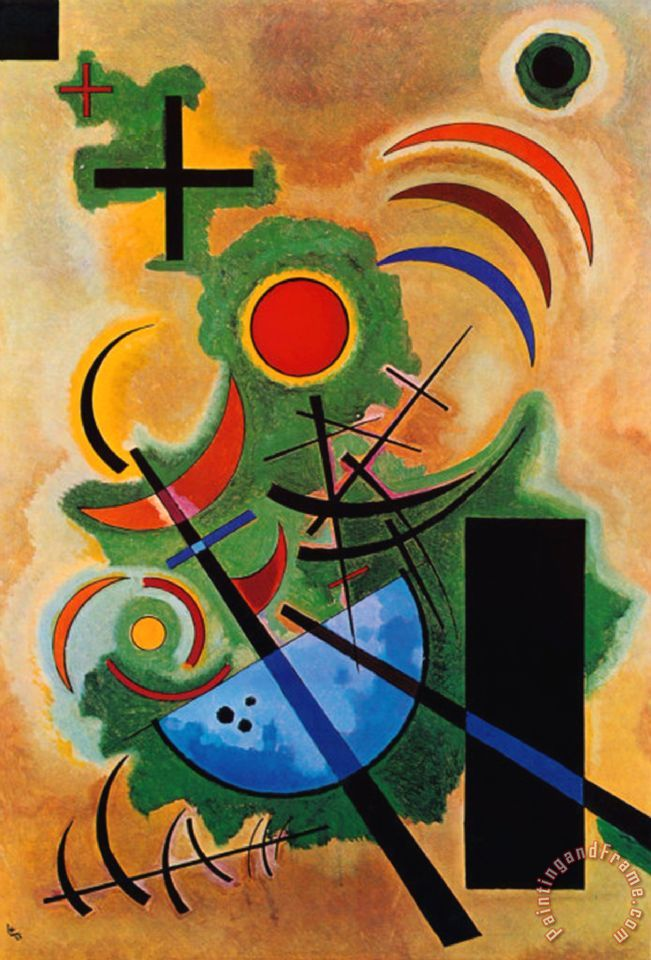 Wassily Kandinsky Solid Green Painting Solid Green Print