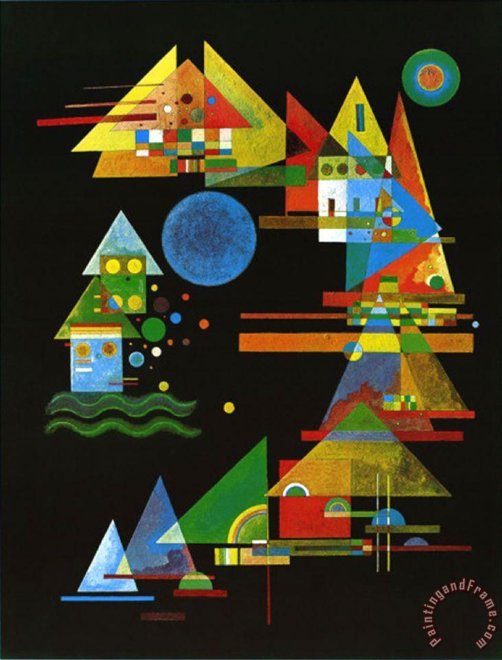 Wassily Kandinsky Spitze In Bogen C 1927 Painting Spitze