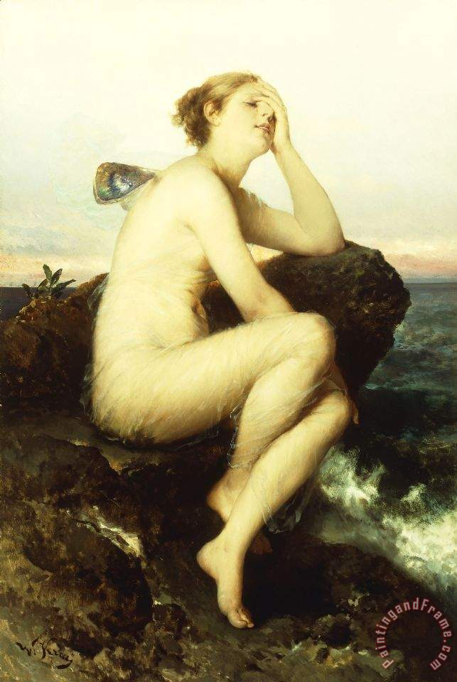 A Nymph By The Sea painting - Wilhelm Kray A Nymph By The Sea Art Print