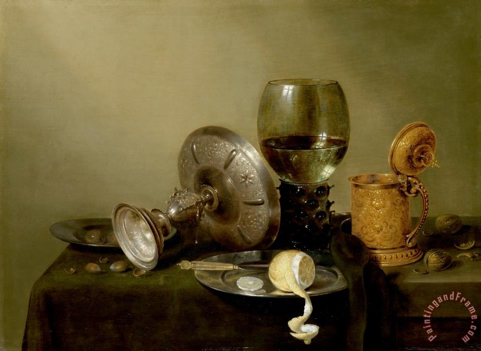 Still Life with Gilt Beer Tankard painting - Willem Claesz Heda Still Life with Gilt Beer Tankard Art Print