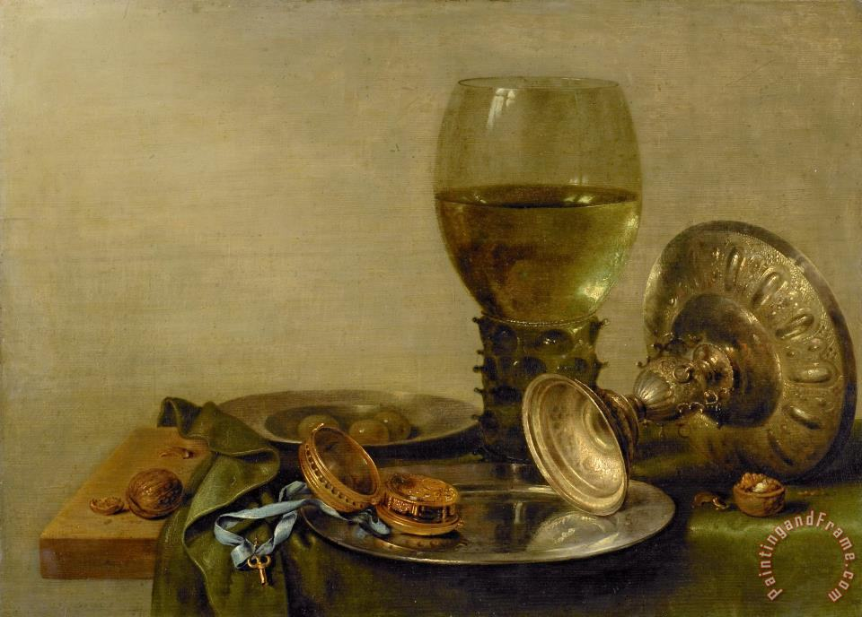 Still Life with Roemer And Silver Tazza painting - Willem Claesz Heda Still Life with Roemer And Silver Tazza Art Print