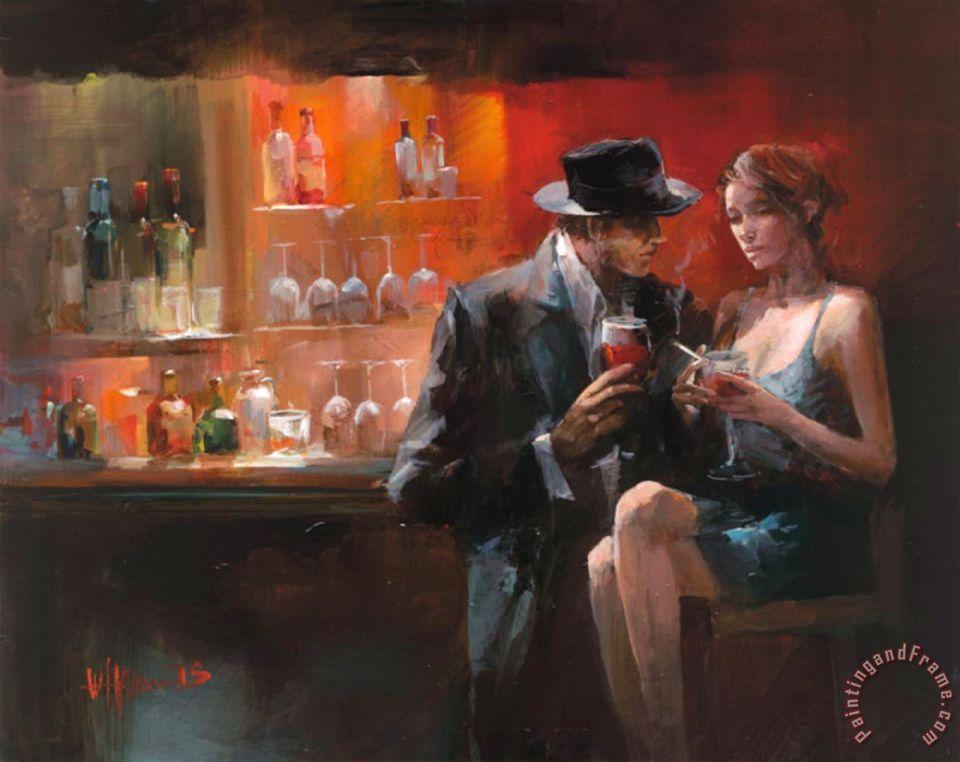Willem haenraets evening in the bar i painting evening - Cuadros para bares ...