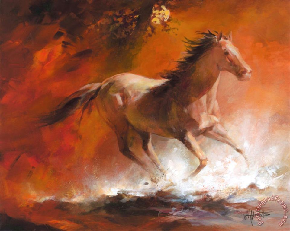 Willem haenraets wild horses i painting wild horses i for Art print for sale