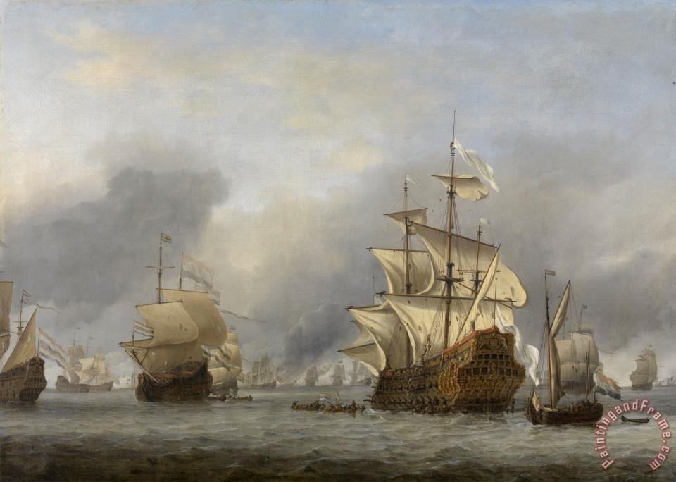 The Capture of The Royal Prince painting - Willem van de Velde The Capture of The Royal Prince Art Print