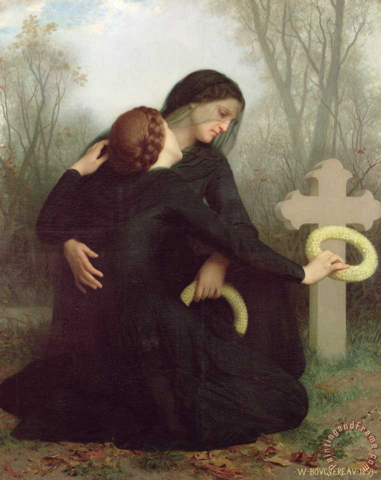 All Saints Day painting - William Adolphe Bouguereau All Saints Day Art Print