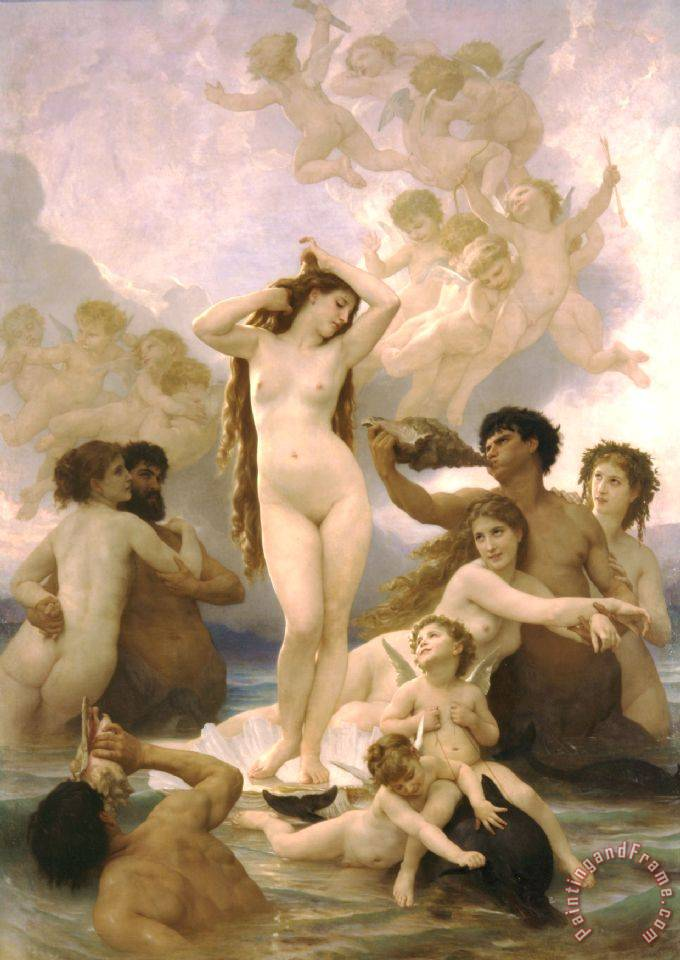 William Adolphe Bouguereau Birth of Venus Art Print