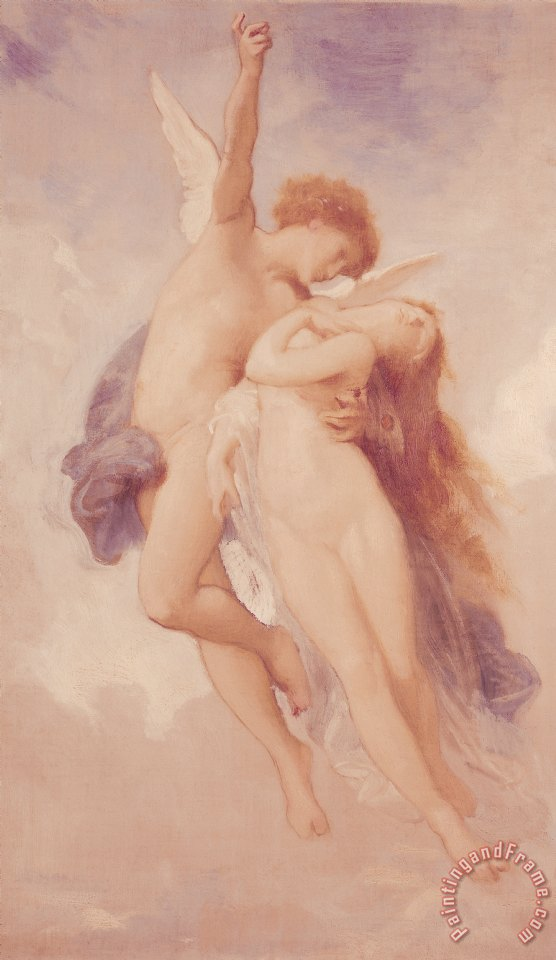 Cupid and Psyche painting - William Adolphe Bouguereau Cupid and Psyche Art Print