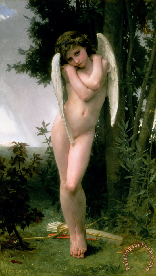 Cupidon painting - William Adolphe Bouguereau Cupidon Art Print