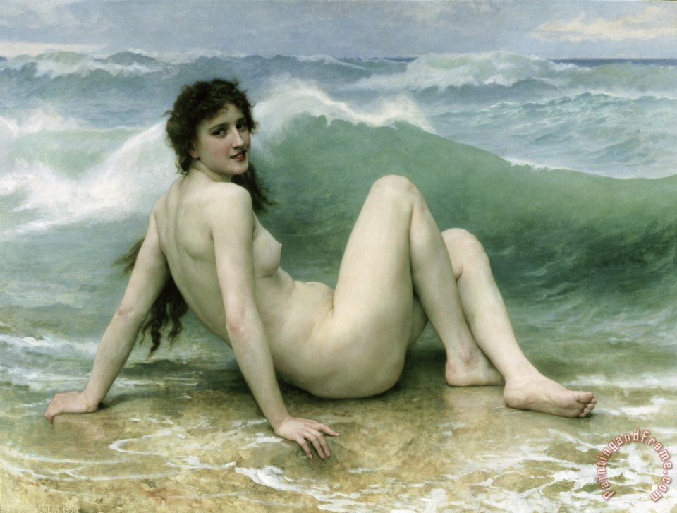 William Adolphe Bouguereau La Vague Art Painting