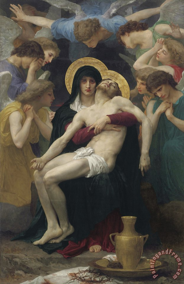 Pieta painting - William Adolphe Bouguereau Pieta Art Print