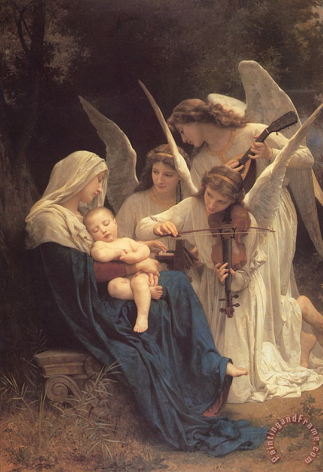 William Adolphe Bouguereau Song of The Angels Art Print