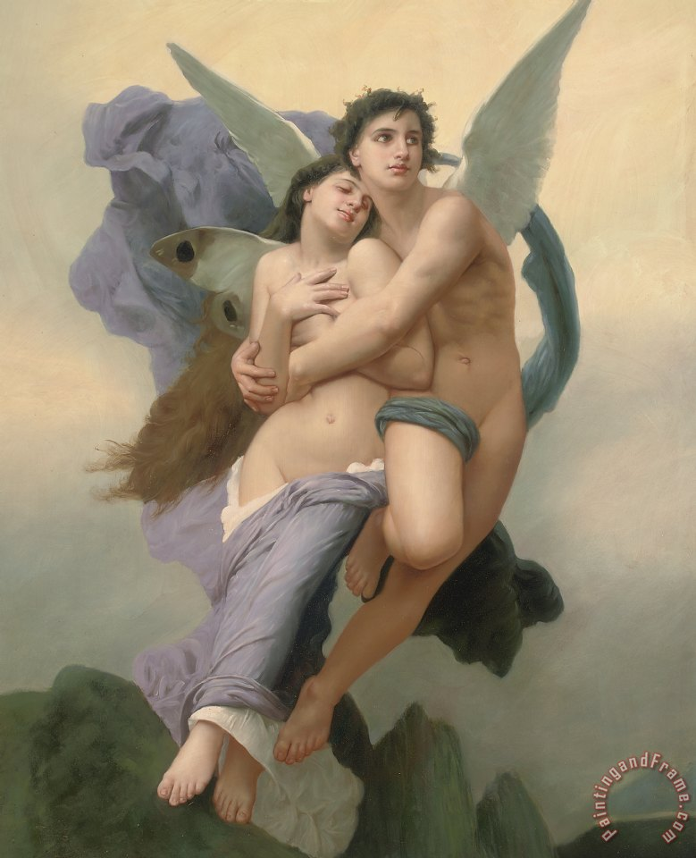 William Adolphe Bouguereau The Abduction of Psyche Art Print