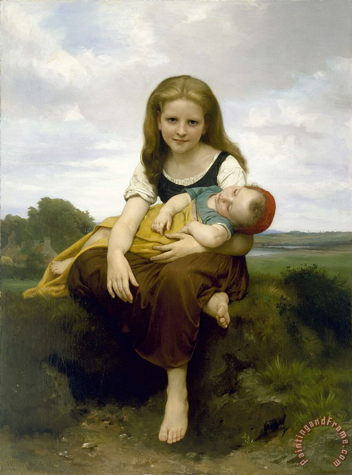 William Adolphe Bouguereau The Elder Sister Art Print