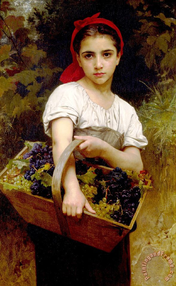 The Grape Picker painting - William Adolphe Bouguereau The Grape Picker Art Print