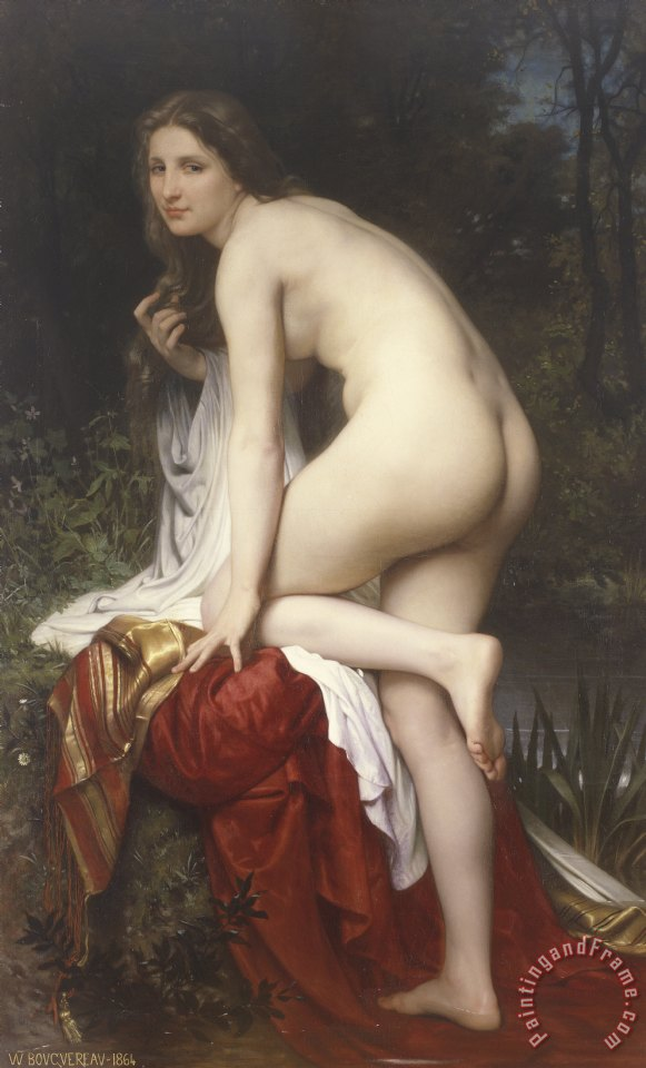 Woman Bathing painting - William Adolphe Bouguereau Woman Bathing Art Print