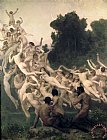 The Oreads by William Adolphe Bouguereau