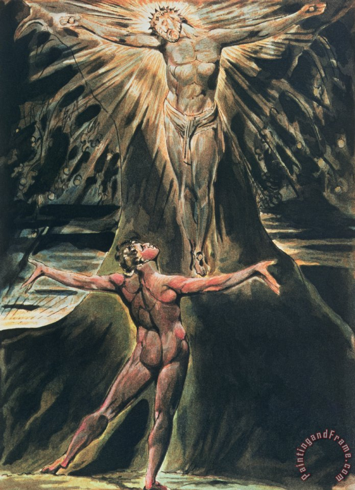 Jerusalem The Emanation of the Giant Albion painting - William Blake Jerusalem The Emanation of the Giant Albion Art Print