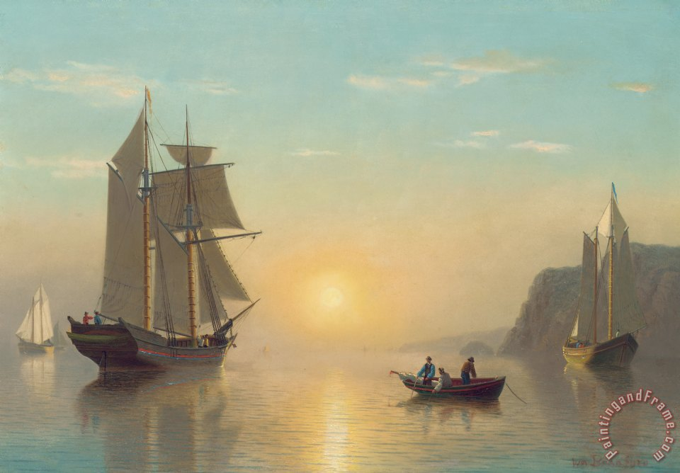 Sunset Calm in the Bay of Fundy painting - William Bradford Sunset Calm in the Bay of Fundy Art Print