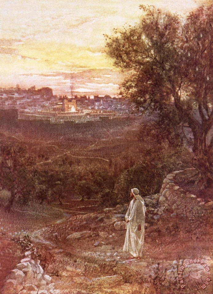 William Brassey Hole Jesus on the mount of Olives Art Print
