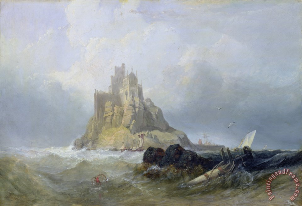 Saint Michael's Mount in Cornwall painting - William Clarkson Stanfield Saint Michael's Mount in Cornwall Art Print