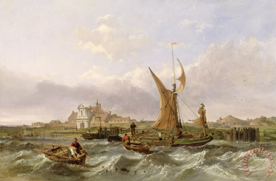 Tilbury Fort - Wind Against the Tide painting - William Clarkson Stanfield Tilbury Fort - Wind Against the Tide Art Print