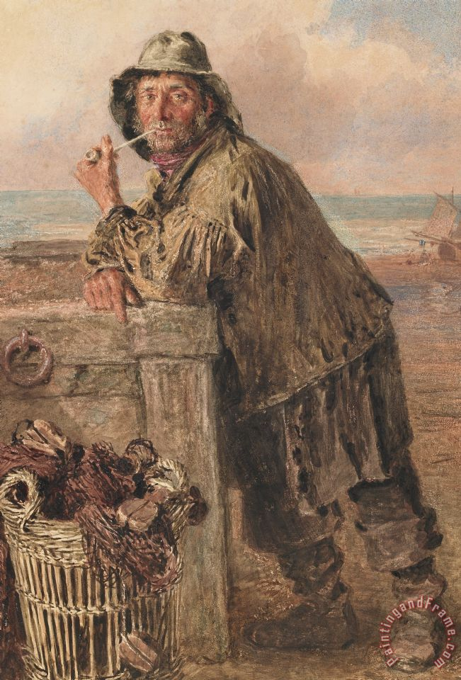 William Henry Hunt A Hastings Fisherman Art Print