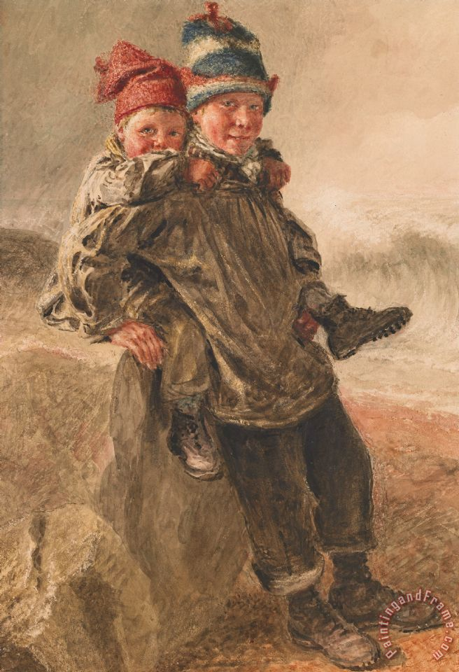 Young Salts painting - William Henry Hunt Young Salts Art Print